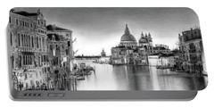 Venice Pencil Drawing Portable Battery Charger