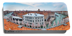 Portable Battery Charger featuring the photograph Venice Rooftops by Fabrizio Troiani