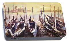 Portable Battery Charger featuring the painting Venice Watercolor- Italy by Ryan Fox