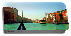 Portable Battery Charger featuring the photograph Venice Waterway by Roberta Byram