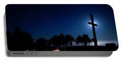 Ventura Ca Cross At Moonset Portable Battery Charger