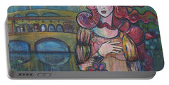 Venus And The Ponte Vecchio  Portable Battery Charger