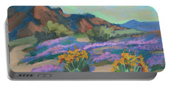 Portable Battery Charger featuring the painting Verbena And Spring by Diane McClary