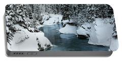Verdant Creek - Winter 6 Portable Battery Charger by Stuart Turnbull