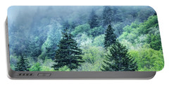 Verdant Forest In The Great Smoky Mountains Portable Battery Charger