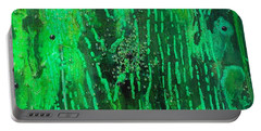 Verde Abstract Portable Battery Charger by Carolyn Repka