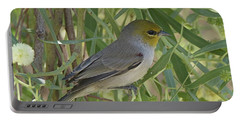 Verdin In Tree Portable Battery Charger by Anne Rodkin
