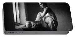 Portable Battery Charger featuring the photograph Vermeer Footwasher by Jennifer Wright