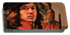 Vermeer Study In Orange Portable Battery Charger