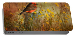 Vermilion Flycatcher At St. Marks Portable Battery Charger