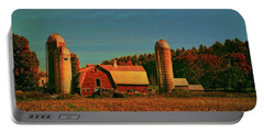 Portable Battery Charger featuring the photograph Vermont Autumn Barn by Deborah Benoit