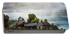 Portable Battery Charger featuring the photograph Vermont Barn by Judy Wolinsky