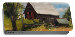 Vermont Barn Portable Battery Charger by Nancy Griswold