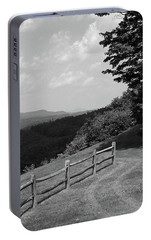Portable Battery Charger featuring the photograph Vermont Countryside 2006 Bw by Frank Romeo