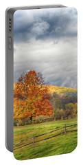 Portable Battery Charger featuring the photograph Vermont Fall Colors After The Rain by Jeff Folger
