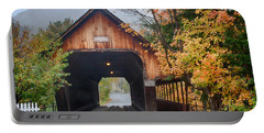 Vermont Fall Colors Over The Middle Bridge Portable Battery Charger