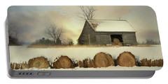 Vermont Hay Barn Portable Battery Charger by Lori Deiter