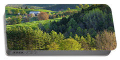 Vermont Spring Countryside Portable Battery Charger by Alan L Graham