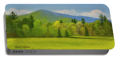 Portable Battery Charger featuring the painting Vermont Spring by Frank Wilson
