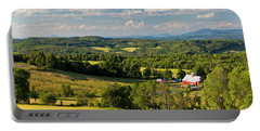 Vermont Summer Vista Portable Battery Charger by Alan L Graham