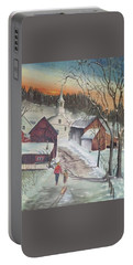 Vermont Village Portable Battery Charger by Peter Suhocke