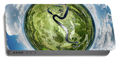 Portable Battery Charger featuring the photograph Vernon Marsh Tiny Planet by Randy Scherkenbach