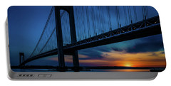 Portable Battery Charger featuring the photograph Verrazano Sunset by Chris Lord