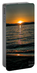 Vertical Sunset Lake Portable Battery Charger