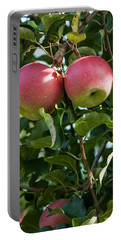 Vertical Twin Apples Portable Battery Charger