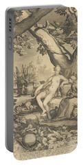 Vertumnus And Pomona, 1605  Portable Battery Charger