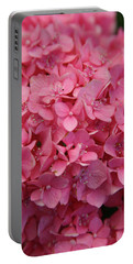Very Pink Hydrangea Blossoms 2578 H_2 Portable Battery Charger
