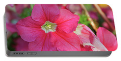 Very Pink Petunia Portable Battery Charger