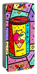 Very Sweet Popart By Nico Bielow Portable Battery Charger