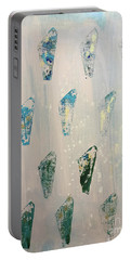 Portable Battery Charger featuring the painting Vestige by Robin Maria Pedrero