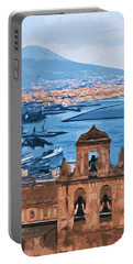 Vesuvio, Panorama From Naples Portable Battery Charger