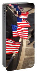 Veteran With Our Nations Flags Portable Battery Charger