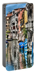 Viale Di Venezia Portable Battery Charger by Tom Cameron