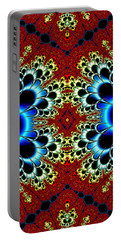 Vibrancy Fractal Cell Phone Case Portable Battery Charger by Lea Wiggins
