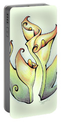 Vibrant Flower 3 Arum Lily Portable Battery Charger