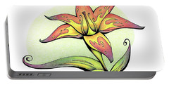 Vibrant Flower 4 Tiger Lily Portable Battery Charger