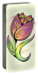 Vibrant Flower 5 Tulip Portable Battery Charger