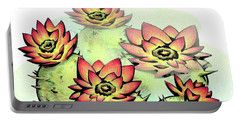 Vibrant Flower 6 Cactus Portable Battery Charger