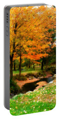 Vibrant October Portable Battery Charger