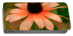 Vibrant Orange Coneflower Portable Battery Charger by Judy Palkimas