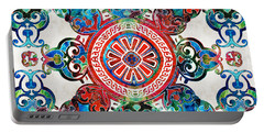 Vibrant Pattern Art - Color Fusion Design 4 By Sharon Cummings Portable Battery Charger