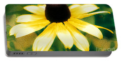Vibrant Yellow Coneflower Portable Battery Charger by Judy Palkimas