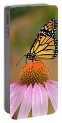 Monarch Butterfly On A Purple Coneflower Portable Battery Charger