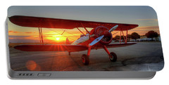 Vicky Benzings 1942 Boring Stearman At Livermore Portable Battery Charger