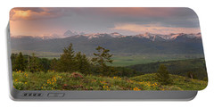 Victor Idaho Sunset Portable Battery Charger by Leland D Howard