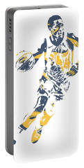 Victor Oladipo Indiana Pacers Pixel Art 30 Portable Battery Charger